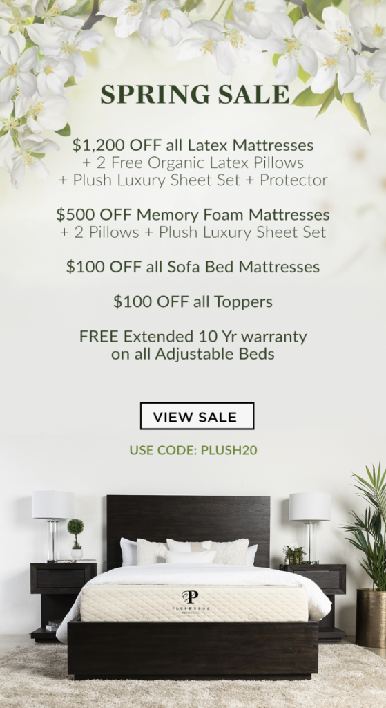 Try Any Mattress of Your Choice RISK-FREE @ Home W/ Free Delivery spring-sale-559x1024 PlushBeds Review ($1,200 off)